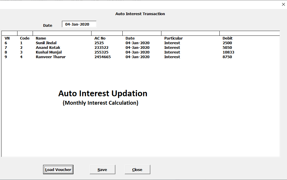 Free Software for Credit society Loan & Interest Calculation Management System in Excel VBA |Useful for Small Banking Finance Company