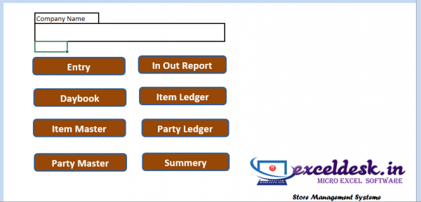 Inventory in Excel   Store Management in Excel Template